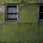 Green Wall with White Windows by Bill Wolff