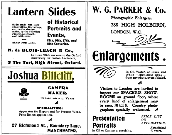 Billcliff ad from 1899